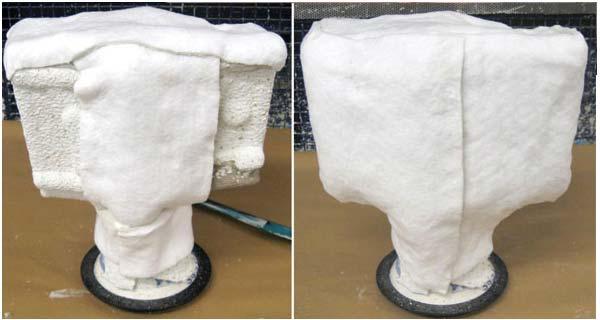 Обертывание керамических форм