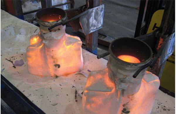 Залитые формы. Фото: foundrymag.com