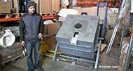 Электрическая поворотная плавильная тигельная печь сопротивления мод. ETF-A80, производитель: ООО 'Инженерная компания САС'