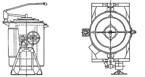 Поворотная электрическая тигельная печь сопротивления типа САТ