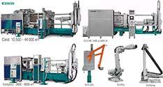 Машины литья под давлением Buhler AG: Carat, Ecoline, Evolution; периферийные устройства к ним; интегрированные «ячейки литья под давлением»