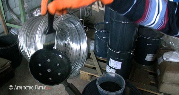Нанесение антипригарного покрытия на инструмент литейщика