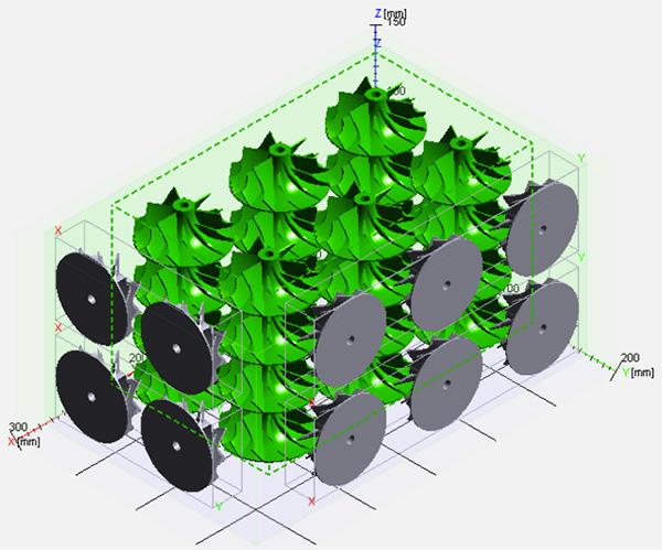 Турбинные колеса в сборке