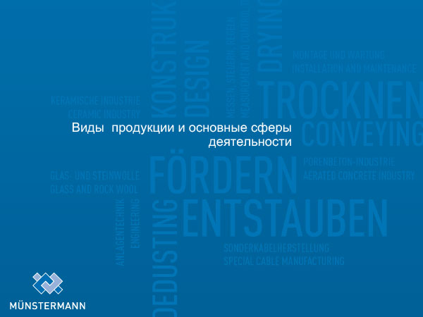 Виды продукции и основные сферы деятельности