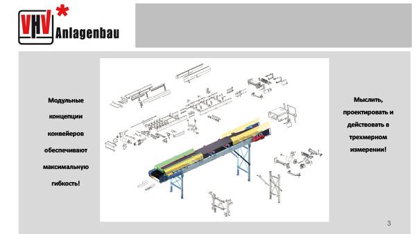 Модульные концепции конвейеров обеспечивают максимальную гибкость!