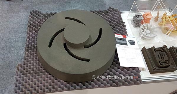 3D печатный песчаный стержень на стенде 3D SMARTPRINT