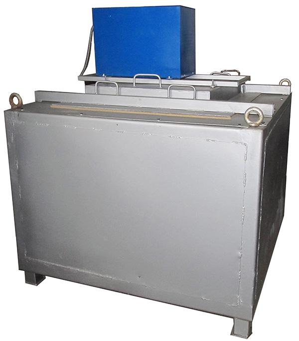 Стационарная электрическая тигельная печь ESF-500, со смонтированной установкой дегазации / рафинирования расплава