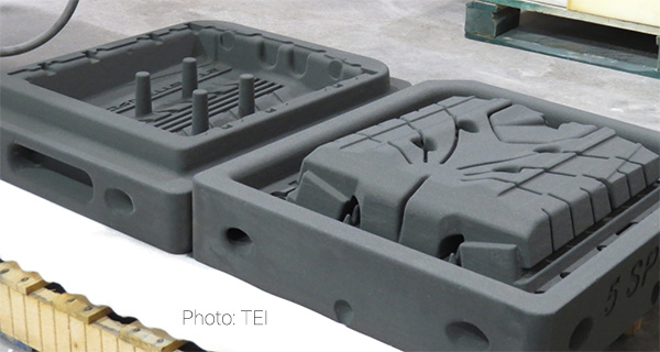 3D печатные песчаные формы компании TEI