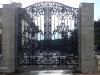 Литой забор с литыми воротами