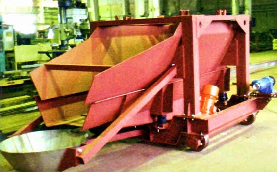Питатель вибрационный бункерный передвижной