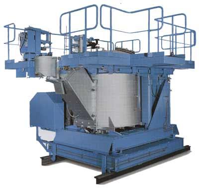 Рис. 1: Нагревательные камеры высокого давления (вместимостью от З до 30 т)  управляемые стопором