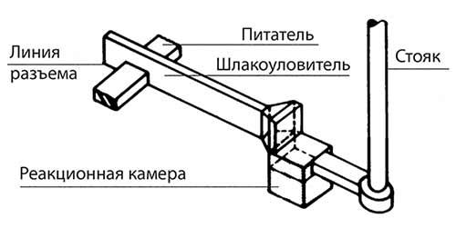 Рис. 1: Традиционная литниково-питающая система для инмолд-процесса