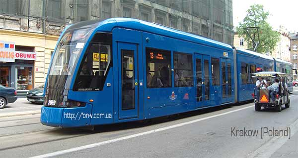 Трамвай в Кракове