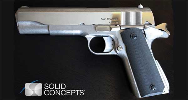 Пистолет M1911 из деталей произведенных на 3D принтере. Foto: Solid Concepts