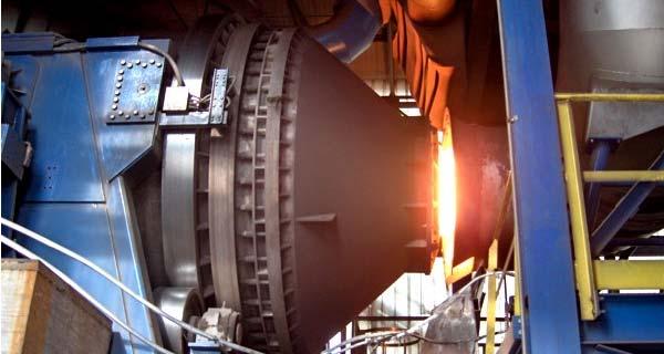 Газовая вращающаяся плавильная печь с кислородным дутьем