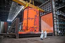 Кузнечная заготовка обечайки корпуса реактора ВВЭР-ТОИ