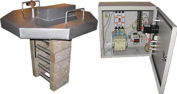 Электрическая установка сушки и разогрева ковшей