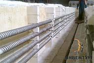 Нагревательные элементы для термической муфельной вакуумной электрической печи сопротивления мощностью 360 кВт