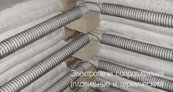 Электропечи сопротивления (плавильные и термические)