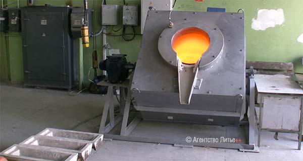 Электрическая тигельная поворотная печь сопротивления ETF-BU350