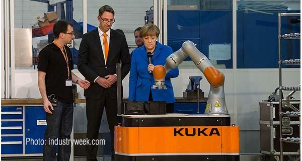А. Меркель на Kuka Robotics