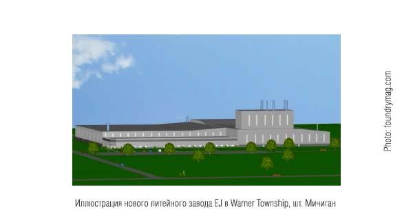 Иллюстрация нового завода EJ