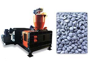 Рис. 1: Al брикеты и оборудование для их производства
