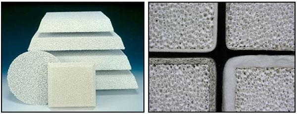 Пенокерамические фильтры VUKOPOR® A для металлургии