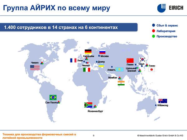 Группа АЙРИХ по всему миру