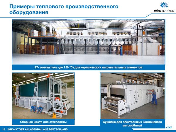 Примеры теплового производственного оборудования