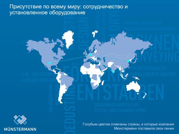Присутствие по всему миру: сотрудничество и установленное оборудование