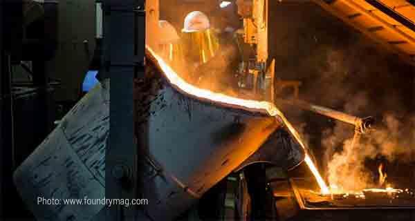 Разливка металла на Scania