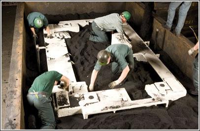 Формовка плиты на литейном заводе Betz Industries