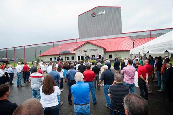 Церемония открытия завода в South Point