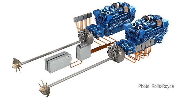Гибридные двигатели MTU для судов