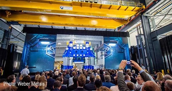 Презентация штамповочного пресса 60000 т на Weber Metals