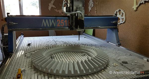 Изготовление модели шестерни на производстве Литейный двор