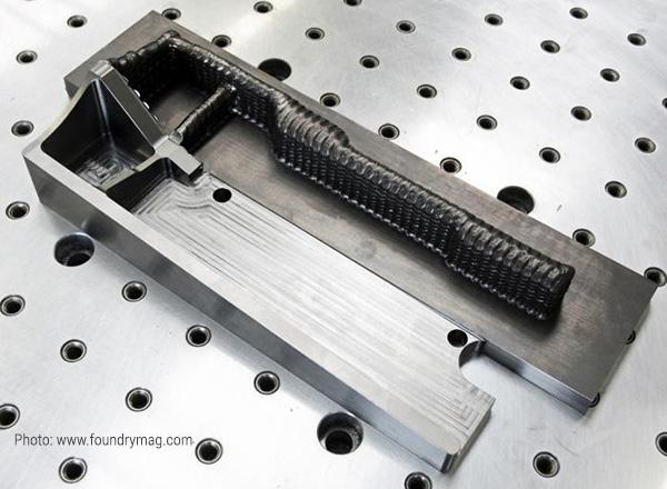 Титановая деталь напечатана с использованием метода Gefertec 3DMP®