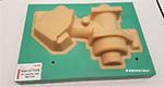 Рис. 4: Модель, изготовленная из модельных плит RAKU-TOOL и литьевого пластика