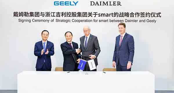 GEELY and DAIMLER