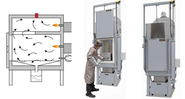 Печь для выплавления восковых моделей (c газовым обогревом)