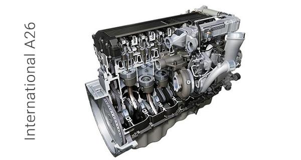 12,4-литровый крупногабаритный двигатель International A26