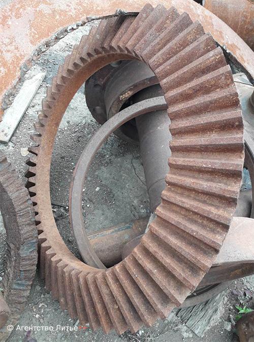 Отливка шестерни большего диаметра