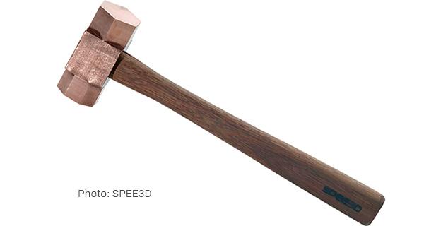 Безискровый медный молоток, отпечатанный на SPEE3Dcell