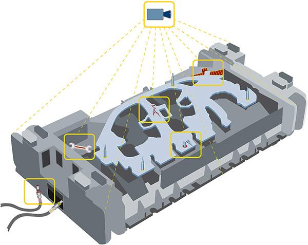 Помимо прочего, камеры обнаруживают наличие инородных тел, неправильных соединений и повреждения матрицы или детали